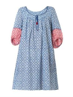 Thierry Colson Eva folk-print dress