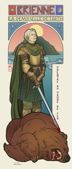 """""""Game Of Thrones"""" Ladies As The Art Nouveau Goddesses We Always Knew They Were. More at the link!"""