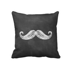 Oh dear. A chalkboard mustache pillow? I think it was made for me.