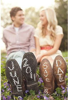 "Love this ""save the date"" idea"
