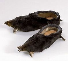 Have been searching for some slippers that don't look like old lady slippers - these could do the trick! Now I just need to find myself some dead voles