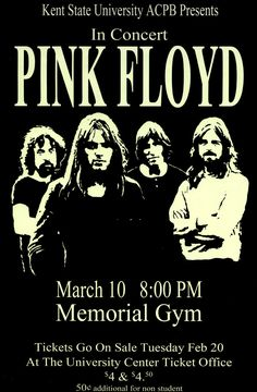 Pink Floyd - Live 1973 Retro Art Print — FRAMED — Print of Retro Concert Poster — Features Nick Mason, Roger Waters, Richard Wright, Syd Barrett and David Gilmour. Pink Floyd 1973, Arte Pink Floyd, Pink Floyd Live, Pink In Concert, Concert Rock, Pink Floyd Concert, Rock And Roll, Pop Rock, Tour Posters