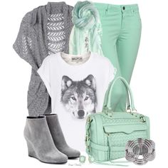 Mint and grey for Fall