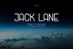 Jack Lane Display Free Typeface is a tall rounded free font from Mack Trinh. Jack Lane include uppercase, lowercase