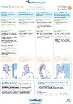 Consultez notre fiche d'exercices pour soulager votre arthrose installée du rachis cervical avec des mouvements d'entretien articulaire