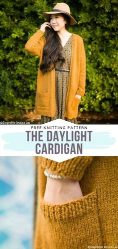 How to Knit The Daylight Cardigan - - You can knit these cardigans even if you are a beginner and, once you're done, you can do anything while wearing them! Can-do Cardigans will empower you. Knitted Coat Pattern, Baby Cardigan Knitting Pattern Free, Sweater Patterns, Coat Patterns, Dress Patterns, Baby Knitting, Free Knitting Patterns For Women, How To Purl Knit, Cardigans For Women