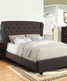Look at this #zulilyfind! Gray Couronne Wingback Queen Bed Frame #zulilyfinds