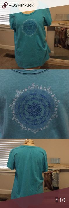 T shirt Ladies t shirt. Blue. Great condition. Smoke free pet free home made for life Tops Tees - Short Sleeve