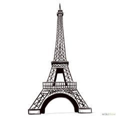 How to Draw the Eiffel Tower. The Eiffel Tower is one of the most recognizable landmarks in Paris, France. While it may seem like a complex piece of architecture to draw, you can easily sketch it out with a bit of practice.