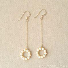 Diy Jewelry Rings, Handmade Wire Jewelry, Ear Jewelry, Bead Jewellery, Stylish Jewelry, Earrings Handmade, Beaded Jewelry, Jewelry Accessories, Jewelry Design