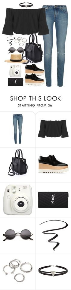 """Untitled#4464"" by fashionnfacts ❤ liked on Polyvore featuring Yves Saint Laurent, Miss Selfridge, Rebecca Minkoff, STELLA McCARTNEY, Janessa Leone, Fujifilm, L'Oréal Paris and Forever 21"