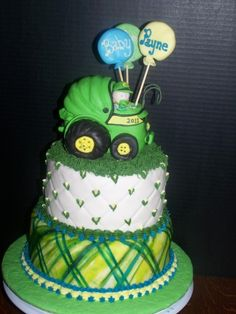 John Deere Baby Boy By janiceing on CakeCentral.com