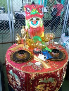 Asian party decoration table setting