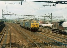 76011 and 76027 at Dewsnap - July, 1978 Electric Locomotive, Diesel Locomotive, Standard Gauge, Train Pictures, Electric Train, British Rail, Old Trains, Sheffield, Manchester