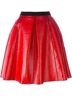 MARC JACOBS Pleather Circle Skirt. #marcjacobs #cloth #skirt