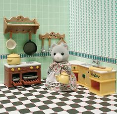 Sylvanian Families Kitchen & Mama Angela