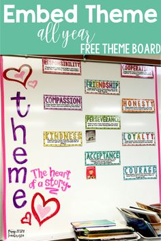 Elementary teaching looking for a classroom management free reading activities to help strengthen teaching theme? Create a big theme anchor chart and spiral important reading comprehension and reading strategies with this easy implementation!