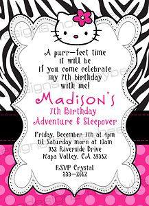 Hello Kitty Birthday Printables | ... Download Personalized Hello Kitty Invitations Birthday Printable Party