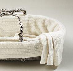 Cable Knit Cashmere Moses Basket Bedding | Moses Basket Bedding | Restoration Hardware Baby & Child