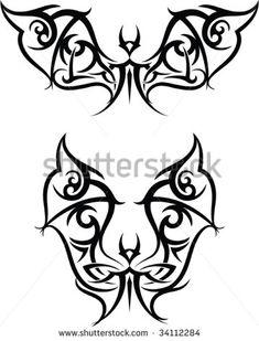 Bat Tattoo Stock Vectors Images Vector Art