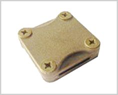 3//8/'/' Earth Rod Lug Clamp in Machined Brass Conductive Coupler for Ground Rods