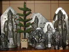 -Antique Christmas Chocolate Candy Molds - History of Chrismtas Molds