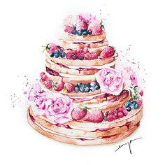 Fruity naked cake