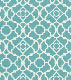 Waverly Home Decor Print Fabric Lovely Lattice Aqua, , hi-res