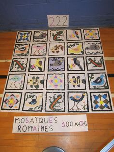 Mosaics inspired from Ancient Rome.