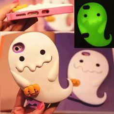 Cute 3D Luminous Ghost Pumpkins Silicone Case Cover for Apple iphone 5S 6 6 plus #Romrichcaseshop