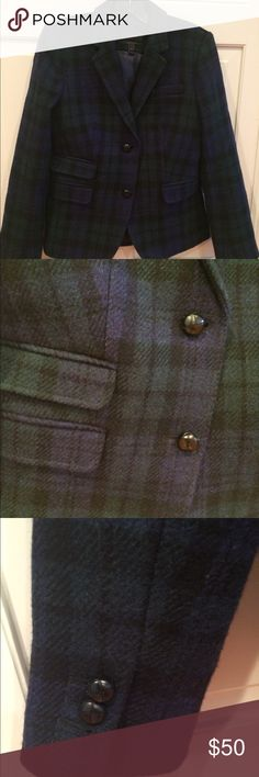 Jcrew Wool Plaid Blazer Worn once, like new Great colors, can be dressed up or down Jackets & Coats Blazers