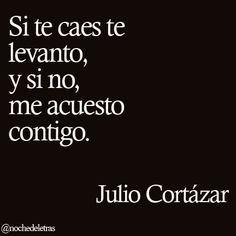 Si te caes te levanto, y si no, me acuesto contigo. Julio Cortazar