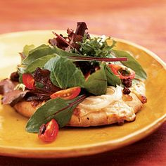 Superfast Vegetarian Recipes   Insalata Pizzas   CookingLight.com