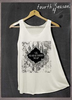 The Marauder's Map Harry Potter Shirt Tank Top Women Size S and M