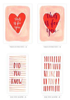 6 Printable Valentine's Day Cards