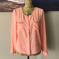 MOON COLLECTION Semi-Sheer Blouse Please feel free to ask your questions so I can get this home to you. Moon Collection Tops