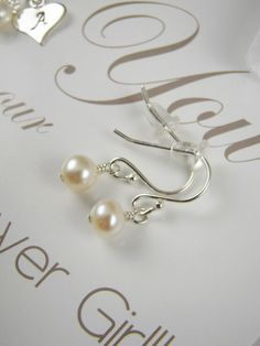 Shiny Little Blessings' is hand crafted artisan jewelry with meaning. Flower Girl Jewelry, Flower Girl Gifts, Sterling Silver Earrings, Pearl Earrings, Little Blessings, Artisan Jewelry, Wedding Jewelry, Unique Jewelry, Handmade Gifts