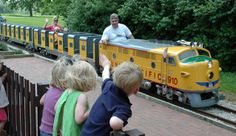 KC Public park system has so much to offer kids of all ages.  Kirk and I went to Palmer Grego's birthday party at this train park...a must do for every little boy train lover!!!