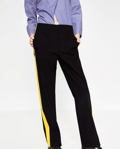 Image 2 of TROUSERS WITH SIDE BAND from Zara