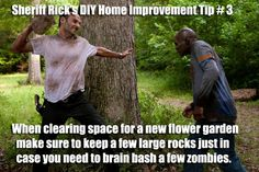 The Walking Dead's Sheriff Rick Grimes shares some helpful DIY Home Improvement…