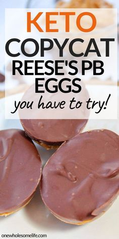 Homemade copycat recipe for Keto chocolate peanut butter eggs that are low carb, sugar free, and gluten free. Perfect Easter treat These keto chocolate peanut butter eggs are a decedent Easter treat made with only six simple ingredients. Ketogenic Diet For Beginners, Ketogenic Recipes, Low Carb Recipes, Diet Recipes, Slimfast Recipes, Recipes Dinner, Easter Keto Recipes, Lunch Recipes, Smoothie Recipes