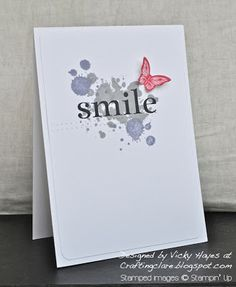 By Vicky Hayes at Crafting Clare's Paper Moments #stampinup #happyday #papillon