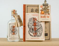 Eastern Poison Gin Branding, Illustration & Packaging by Charmaine Tan - Grits & Grids® Bottle Packaging, Brand Packaging, Packaging Design, Branding Design, Product Packaging, Organic Packaging, Japanese Packaging, Web Design, Label Design