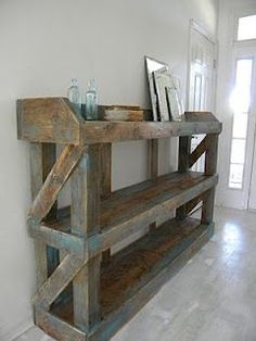 This would make a cool book shelf! Simply me: The Kyle - Love this versatile rustic furniture piece! This would make a cool book shelf! Simply me: The Kyle - Love this versatile rustic furniture piece! Wooden Pallet Furniture, Wooden Pallets, Rustic Furniture, Home Furniture, Furniture Plans, Pallet Wood, Luxury Furniture, Antique Furniture, System Furniture