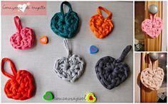 cosicasraquel: DIY: Corazón de Trapillo Patrón corazón de trapillo Valentines Day Crochet Heart