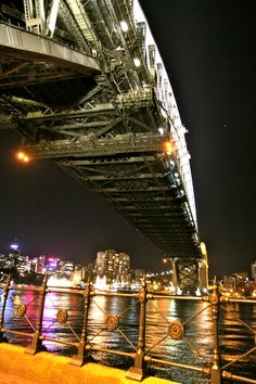 under the bridge, Harbor Bridge, Sydney
