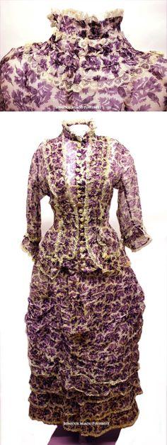 Day dress ca. 1880s.