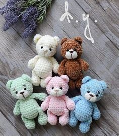Free pattern for Crochet bears amigurumiLittle bears amigurumi is a plush crochet toy. Free amigurumi pattern by Julia Deinega.Amigurumi Soft Bär Gratis Muster Source by ayeyldrArms (make R 2 ch, 6 sc in second ch from hook R sc, inc)× 3 R 9 sc row Crochet Bear Patterns, Crochet Doll Pattern, Baby Knitting Patterns, Crochet Dolls, Knitting Toys, Crochet Animals, Teddy Bear Patterns, Crochet Appliques, Crochet Birds