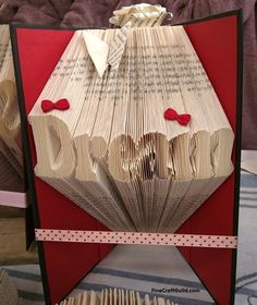 How to Fold Book pages into Letters -  Recycled Book Art Ideas - FineCraftGuild.com