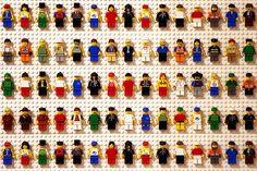 Lego minifigure wall